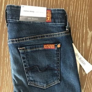 7 For All Mankind 'The Mid Rice Skinny' jeans